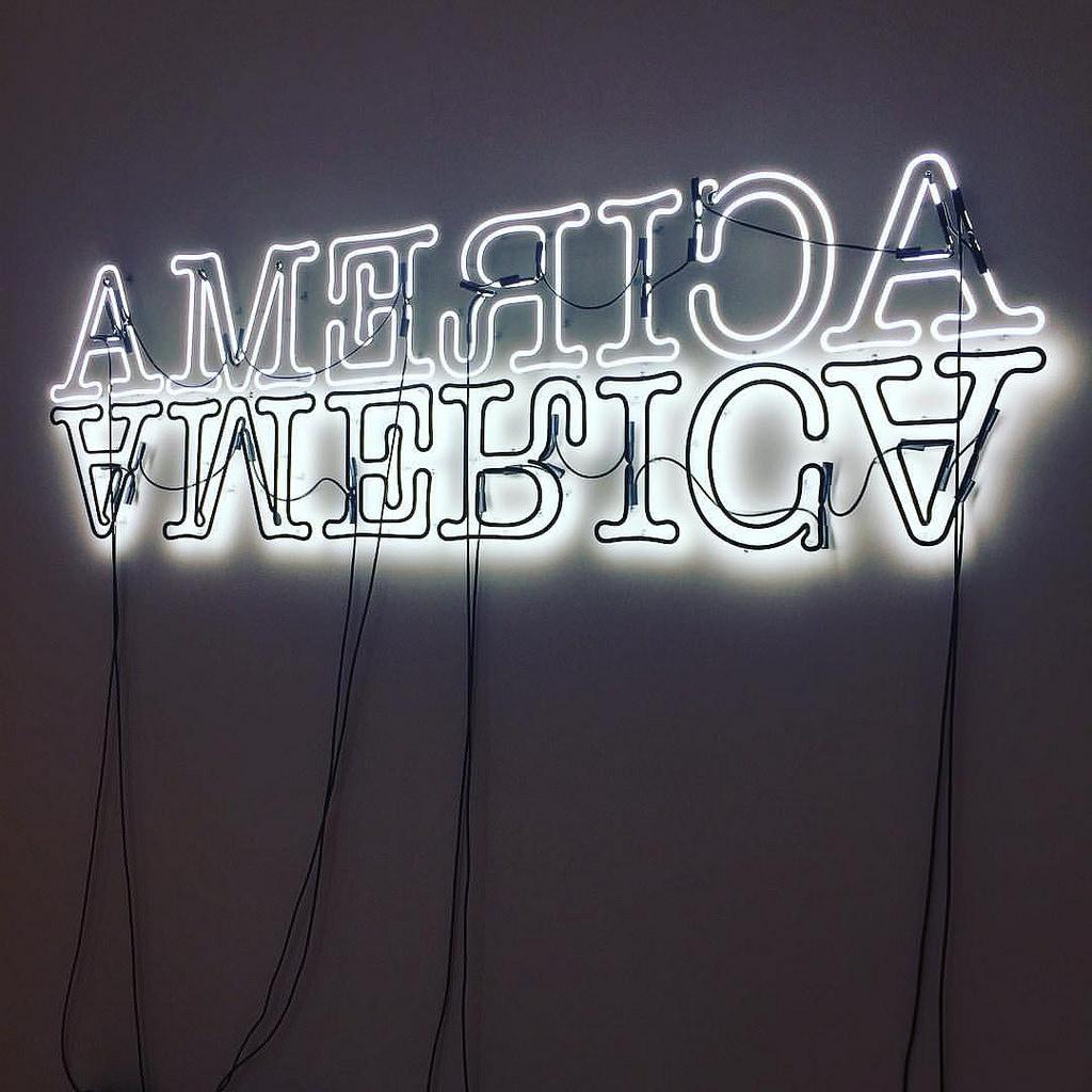 "Glenn Ligon, ""Double America"", 2006 Photo:Aaron Muszalski via Flikr"